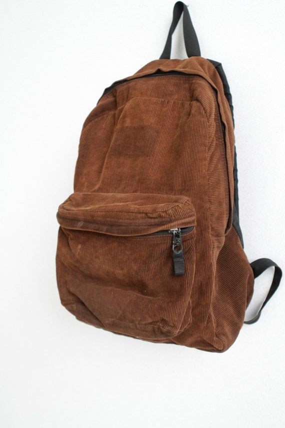 90s rare JANSPORT brown CORDUROY vintage BACKPACK day pack