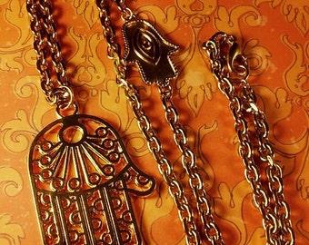 Golden Buddha Hand Necklace