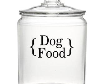Dog or Cat Food Vinyl Decal - Vinyl Lettering Dog Food Label Cat Food Label