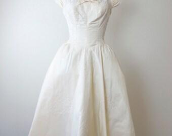 1950s Pricilla of Boston Lace Top Wedding Dress