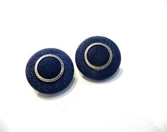 Post Earrings, Stud earrings, Navy blue, silver blue earrings, blue stud earrings, blue, deep blue, blue post earrings, blue earrings, small