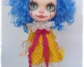 ALYSIUM Gothic Clown Blythe custom doll by Antique Shop Dolls