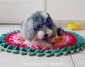 Pets Rug Crochet Pattern PDF - Round Comfy Mat Photo tutorial - Instant DOWNLOAD