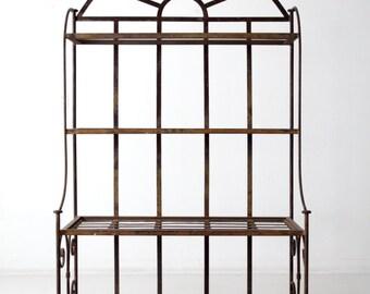 antique bakery rack, metal shelf