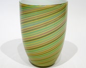 Cenedese Murano Glass Swirl Vase: Reserved for srwalden12