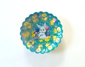 1950s mid century easter plastic candy dishes , easter serving trays , easter home decor , easter bunny , ducks