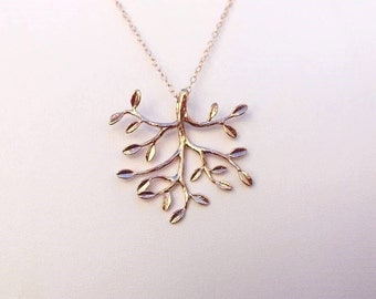 Rose Gold Tree Necklace.Tree Necklace.Tree Jewelry. Bridal Jewelry. Wedding Necklace.Bridesmaid Necklace.Bridesmaid Gifts.Gold Necklace.Mom