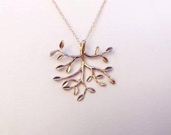 Gold tree jewelry Etsy