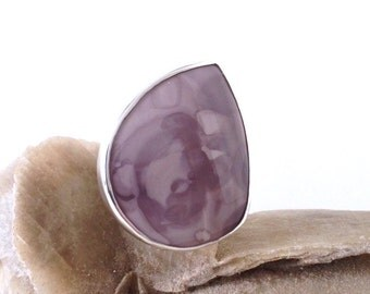 Willow Creek Jasper Ring, Silver, unique handmade gift, ready to ship