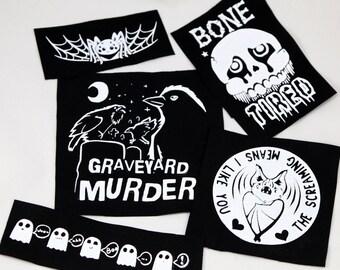 Halloween Punk Patches Set Original Designs