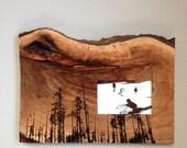 Natural Wood Frame, Forest Frame, Wedding Gift, Unique Frame, Walnut Frame