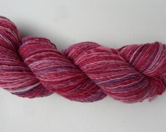Handspun Yarn Gently Thick and Thin - Handpainted Superwash Merino Wool Yarn, fingering weight yarn