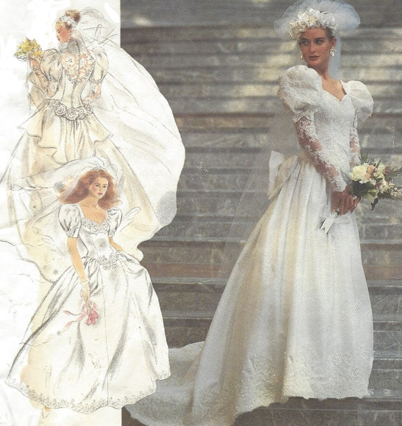 Make Your Own Wedding Dress: 90s Womens Lined Bridal Gown Design Your Own Simplicity Sewing