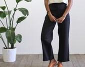 Vintage Black Linen trousers