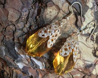 Magic earrings as amber