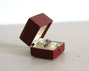 Antique Ring Box Leather Engagement Wedding Ring Box By Appointment to the Prince of Wales