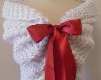 Winter Wedding/Valentine Wedding/Christmas Wedding/Wedding Shrug/Bridal Bolero/Bridal Shawl/White Shawl/Wrap/Wedding Shawl/White Wedding