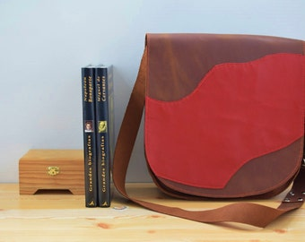 Leather bag,leather tote bag,leather messenger,red leather bag,crossbody bag,brown leather bag,genuine leather bag,leather purse,hipster