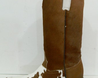 Genuine caf hair cowboy boots made to order any size men or woman