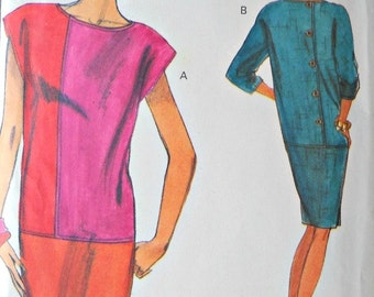Very Easy Very Vogue 8080 Dress Pattern, Sizes 14, 16, 18, Vintage 1991