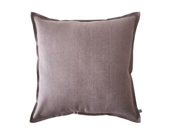 Decorative pillow cover, Light purple pillow, Linen accent pillow, Linen throw pillow cover, Purple sofa pillow, Square pillow cover