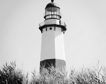 Montauk Lighthouse Landscape Photography, Black and White Wall Prints, Montauk NY, Ocean Decor, The Hamptons, Long Island NY