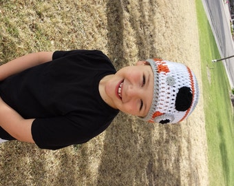 BB8 Hat, Star Wars Inspired Hat, BB-8 Droid Hat, Crochet, The Force Awakens, Inspired by Star Wars, Child Size, 4 - 7 Years, BeeBee Ate
