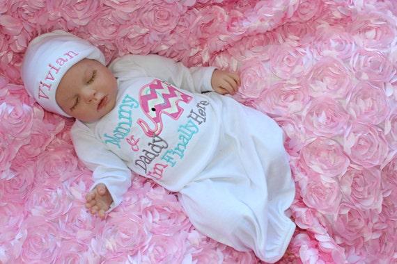 Newborn Girl Take Home Hospital Outfit Elephant Baby Shower