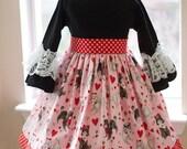 Ready to Ship Valentine Poodle Dress  3