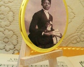 Historical Victorian Era African American Woman #4, Purse Mirror, Makeup Mirror, Large Palm Mirror, Cosmetic Mirrors, Handheld Mirrors