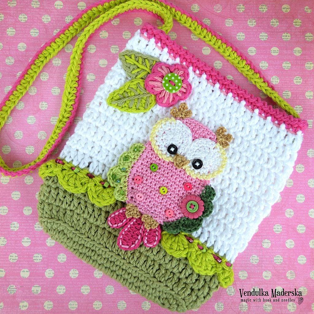 Crochet pattern Owl purse by VendulkaM crochet bag