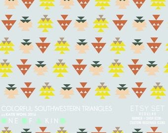 Colorful Southwestern Triangles - etsy set