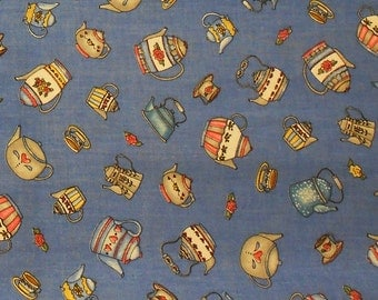 Teapots and Teacups Fabric