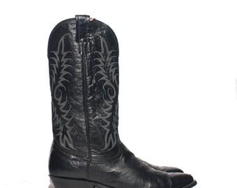 10.5 D | Men's Nocona Black Cowboy Boots