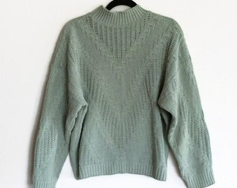 90s Sage Sweater