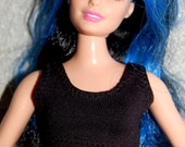 Curvy Barbie Black sports bra exercise top A4B146 fashionista fashion doll clothes READY TO SHIP