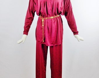 1970s BILL TICE EVENING Hostess Set Grecian Style Tunic and Pants Halston Inspired Size 6
