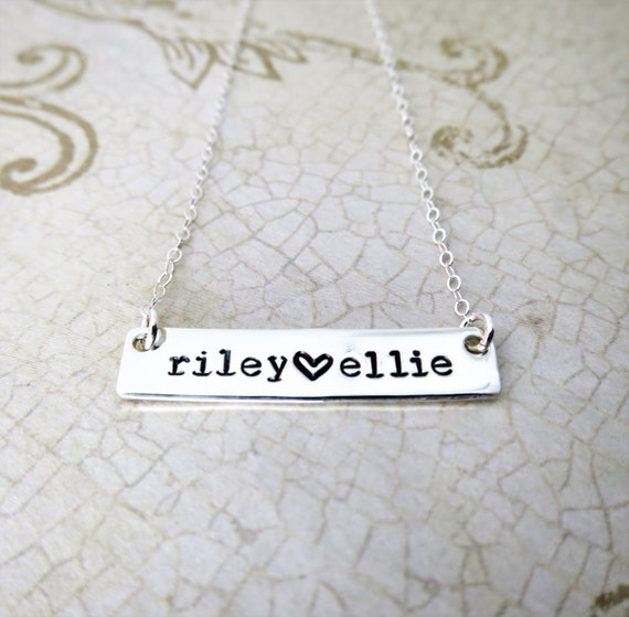 Name Necklace | Custom Name Plate | Mommy Necklace | Custom Name Necklace | Personalized Silver Bar | Mother's Day Gift | Gift for Mom