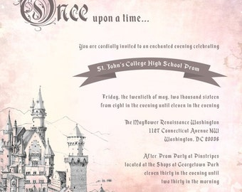 Once Upon A Time Invitations