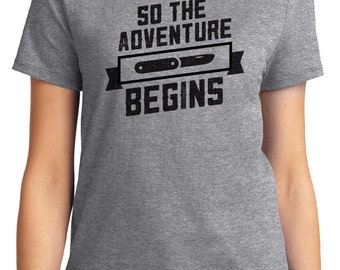 And So The Adventure Begins Camping Unisex & Women's T-shirt Short Sleeve 100% Cotton S-2XL Great Gift (T-CA-31)