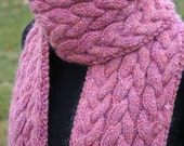 Cable Knit Scarf Pattern
