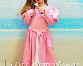 Ariel's Pink Ball Gown - Sizes 2T, 3T, 4T, 5, 6, 7, 8 and 10