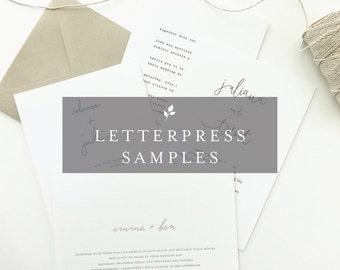 Letterpress Samples / Letterpress Wedding Invitations / Letterpress Save the Dates