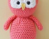 Lucy the Owl Crochet Amigurumi Plush Plushie Stuffed Animal Softie READY TO SHIP