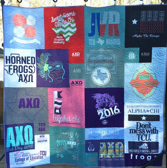 Mosaic t shirt quilt deposit t shirt quilts t by for How to make t shirt quilts easy