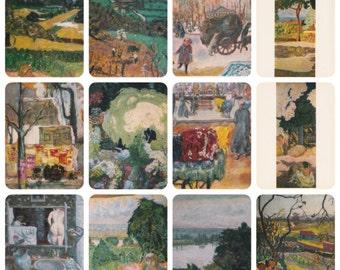 Pierre Bonnard. Complete Set of 16 Prints, Postcards in original cover -- 1977