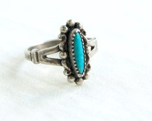 Turquoise Ring Size 6 Vintage Bell Sterling Southwestern Jewelry Native American Trading Post