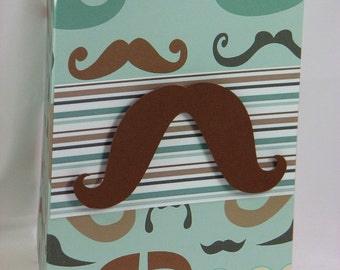FanTACHEtic Masculine Mustache Birthday Greeting Card