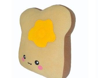 BIG toast pillow / soft and cuddly kawaii plushie