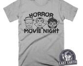 Horror Movie T Shirt Vintage Halloween Shirt Frankenstein Shirt Dracula Shirt Werewolf Shirt Movie Night Spooky Tees Vampire Monster T Shirt